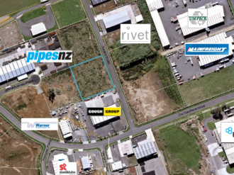 New Plymouth Commercial Property For Sale Taranaki: 5371m² Swans Road site - Land/Development Site For Sale